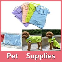 Wholesale Wholesaler Teddy Jacket - Teddy Pets Rain Coat For Small Dogs Pet Jacket Casual Waterproof Dog Clothes With 4 Colors 160909