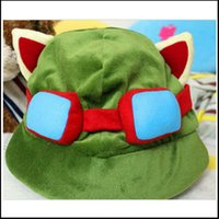 Wholesale Teemo Free Shipping - Free shipping hot sale the Swift Scout Teemo hat Hero alliance around cospaly hat