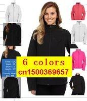 Wholesale Gore Tex Waterproof Jacket - 2016 New Brand Womens Fleece Apex Bionic SoftShell Jackets Outdoor Windproof and Waterproof Breathable Ladies Jacket
