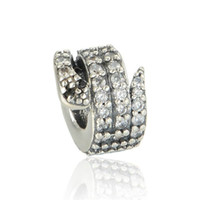 Wholesale Wholesale Pandora Style Pieces - 5 pieces lot snake charms beads authentic original S925 sterling silver fits for pandora style free shipping leaves ALELW533H8