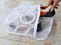 Wholesale Wholesale Shoes Wheels - New Arrive Storage Organizer Bags Mesh Laundry Shoes Bags Dry Shoe Organizer Portable Washing Bags
