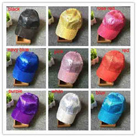 Wholesale children stage shows - Children tide Sequin hat hip-hop beads peaked cap stage shows hat cap Xmas stage performances hat