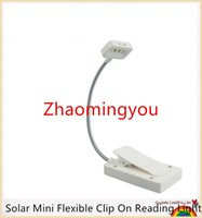 Wholesale Reader Table - Solar Mini Flexible Clip On Reading Light Solar   USB Charging Lamp Solar Powered Reading Emergency Light Table Lamp For Reader