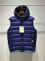 Wholesale Vest Body - M361 AMIENS gillets French Body Warmer anorak gilets men winter vest High Quality Warm Plus Size Man Down and parka anorak vest