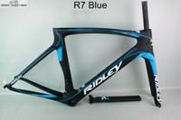 mavi bisiklet çerçeveleri toptan satış-Moda 2016 karbon yol bisiklet mavi DCRF09 mat bitmiş pf30 Çin Ucuz dayanıklı karbon bisiklet çerçeve kabul özelleştirilmiş boya işi