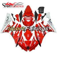 White Red Injection Plastic Full Fairings para Yamaha YZF 600 R6 06 07 Ano 2006 2007 ABS Motorcycle Fairing Kit