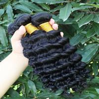 Wholesale Goddess Remy Hair - Remy human hair Deep Wave goddess hair weave wholesale 100% Natural Human Hair, No chemical dye brazilian deep wave hair 3pcs Factory Price