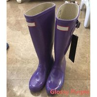 Wholesale Hunter Green Wellingtons - 2017 Hunter Rain Boot Best Selling Ms.glossy Wellingtons Wellington Rain Boots Without Box Boot Gloss Welly Boots Sale