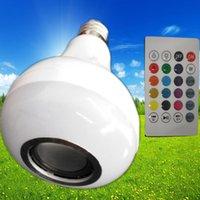 clé usb bluetooth achat en gros de-Commande sans fil Musique LED ampoules RGB 24 haut-parleur remote12W Bluetooth haut-parleur ampoule LED pourrait être avec la fonction USB avec la fonction USB 3.0