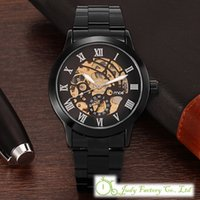 Wholesale Tungsten Watch Steel Black - Black Women's Men HOT Luxury Tungsten Steel Automatic Ladies Dress Wrist Watch 209