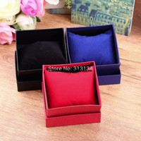 Wholesale Gift Present Box Case - Wholesale-1pcs Practical Jewelry Box Present Gift Boxes for Bracelet Bangle Necklace Earrings Watch Case with Foam Pad best price!