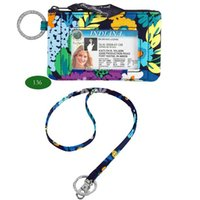 Wholesale Key Case Wallet Zip - VB Cotton Zip ID Case with Lanyard ID Card Holder Credit Card Bus Card Case Stationery case 100% real