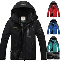 Wholesale Sports Wind Jackets - Fall-hot Brand winter jacket men Plus velvet warm wind parka hooded Outdoor sport winter coat men XD016