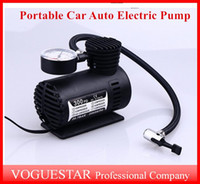 Wholesale Motorcycle Auto - Mini 12V Car Auto Electric Pump Air Compressor Portable Tire Inflator pumps Tool 300PSI Free Shipping ATP019