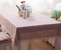 Wholesale Cloth Refrigerator Covers - Cotton And Linen Mattress Tablecloth Fresh Pastoral Strawberry Tablecloth Coffee Table Cloth Multi-use Towel Refrigerator Cabinet Cover