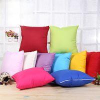 Wholesale Wholesale White Pillow Cases - Home Sofa Throw Pillowcase Pure Color Polyester White Pillow Cover Cushion Cover Decor Pillow Case Blank christmas Decor Gift SF09
