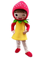Wholesale Strawberry Fruit Costumes - strawberry girl Mascot Costume fruit mascot costume Adult Size Hot Sale free shipping fancy dress costume outfit