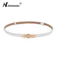 Wholesale Thin White Leather Belt - Wholesale-Fashion Luxury Brand Painting Genuine Leather Belt For Women Thin Waist Cowskin Women Belt For Dress Free Adjust Leather Belts