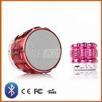 Acheter Cartes à puce usb-Mini Bluetooth Speaker S28 Métal Steel Smart Wireless Hands Salut fi haut-parleurs avec radio FM soutien SD Card Couleurs mélangées US010 Livraison gratuite