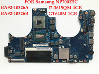 Wholesale 4gb ddr3 memory - High quality laptop motherboard FOR Samsung NP700Z5C 700Z5C BA92-10326A BA92-10326B I7-3515QM 4GB Memory GT640M 1GB Fully tested