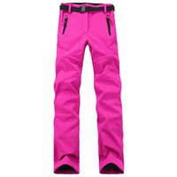 Wholesale Thick Black Female Models - Wholesale-Free shipping Mountaineering ski pants outdoor complex soft shell Fleece Trousers thick warm pants Trousers female models