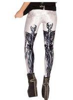 Wholesale Ladies Leggings Models - Explosion Models Women Leggings Pants Trousers Casual Slim Lady Leggings Stretch Tight Pants Human Skull Print Pencil Feet Pants