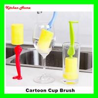 ingrosso caffè spazzola di pulizia della tazza-Durable Sponge Standable Cleaning Brush Brush Bottle Mug Scrubber Strumento di pulizia della cucina tè in vetro porcellane porcellana caffè macchie
