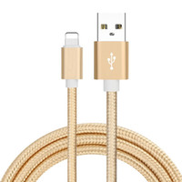 Wholesale Ipad4 Cables - Decatur Apple Data Cable 7Plus Silver Fast Charge Line 1m Long ipad4 Durable Alloy Braided Wire iPhone6S Cell Phone Cables