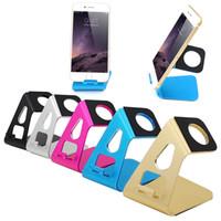 smartphone-dock großhandel-Großhandels-Tischplattenstandplatz-Halter-Aufladeeinheit für iPhone 5 5S 6 6S Plus für Samsung Galaxie S5 S6 S6 Rand-Smartphone-Uhr-Aluminiumaufladestation