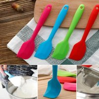 Wholesale Tools Butter Cake - Silicone Cake Scraper Cake Cream Butter Spatula Mixing Cooking Scraper Brush Silicone Baking Tool In Stock CCA7473 50pcs