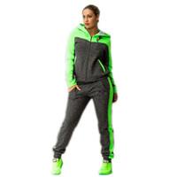Wholesale Woman Plus Size Jogging Suit - jogging suits for women harajuku autumn suit femme 2 piece set tracksuit hoodies sweatshirt zipper hoodie plus size moletom pant
