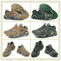 Wholesale Boys Size Camo - Brand Design Boy Air Huarache Run Camo Thomas Sport Shoes Classic Men Huarache Ultra Sports Running Shoes Man Trainer Sneakers Size 40--45