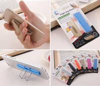 Wholesale Elastic Phone Strap - 2 in 1 Finger Grip Elastic Band Strap Universal Phone Self Holder with Stand for iPhone Samsung Tablets Wholesale Phone Accessories Holders