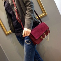 Wholesale Small Leather Hand Bag - Genuine leather Cross body Women small casual cross body suede leather factory first hands bags best prices 23x14x7cm free shipping
