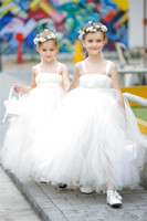 Wholesale first zipper made - Princess Flower Girls Dresses For Weddings Stripes Tiered Tulle Girls Pageant Dress Back Zipper Custom Made First Communion Dresses