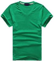 v schiffshirts großhandel-Freies verschiffen Heiße 2016 100% baumwolle männer V-ausschnitt kurze T-Shirt marke männer shirts casual style für sport männer T-Shirt größe S-XXL