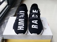 Wholesale Outdoor Rubber Floor - NMD HUMAN RACE Pharrell Williams X Running Shoes 2016 Newest Men's Breathability NMD Running Sneakers Outdoor Fashion Jogging Shoes..