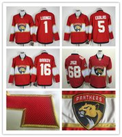 Wholesale Cord Man - 2016 2017 Cord NHL Florida Panthers #1 Luongo 16 Barkov 68 Jagr 5 Ekblad Red Hockey Jersey Stitched Mix Order
