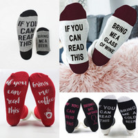 Wholesale Comfort Man - Comfort Socks Letter Printed Adults Cotton Socks Unisex Men Women If you can read this Warm Christmas