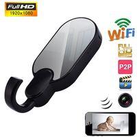 Wholesale clothes hooks spy cameras - Wireless HD 1080P WiFi Spy Clothes Hook Camera IP Mini USB Pen Hidden Pinhole DV Spy Clothes Hook Camera Free Shipping