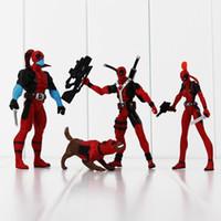Wholesale Marvel Action Figures Spiderman - New 4pcs lot Marvel X-men Dead pool Deadpool PVC Action Figure Collection Model Toy