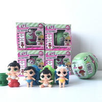 Wholesale Kids Toy Egg Shape - Lil Sisters Series 2 baby toys Dress Up dolls baby Tear change egg discolor when touch water egg shape Baby Dolls