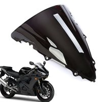 Wholesale Yamaha R6 Windshield Motorcycle - 1 Pcs New Motorcycle Double Bubble Windscreen Fairing Windshield Lens ABS for Yamaha YZF R6 2003-2005   2006-2009 R6S