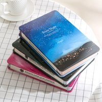 Wholesale Wholesale Diary For Girls - Wholesale- Korean Metal Cover Notebook Personal Diary Creative Kawaii Stationery Color Paper Blank Planner 2017 For Girls School Supplies