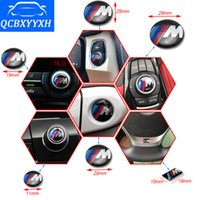 Wholesale Bmw E92 Wheels - Car-Styling Wheel Badge 3D M Emblem Sticker Decals Logo For BMW M Series M1 M3 M5 M6 E46 E52 E53 E60 E90 E91 E92 E93 X1 X3 X5 X6
