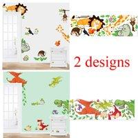 Wholesale Babys Bedding - 100pcs cartoon animals wall stickers for kids bed room ZYCD001 CD002 zoo decals babys home decorations diy adesivo de parede mural art diy 2