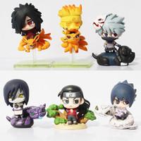 Wholesale Kakashi Hatake Action Figure - 6Pcs Set Naruto Uzumaki Naruto Orochimaru Uchiha Sasuke Hatake Kakashi Mini PVC Action Figure Toys Dolls