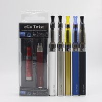 Wholesale Ego C Ecigarette Kit - Electronic cigarettes Blister kits Ecigarette eGo C Twist Variable Voltage Battery 3.2v-4.8v 650mah 900mah 1100mah with CE5 Atomizer