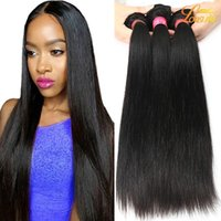 Wholesale Natural Silk - Brazilian Straight Hair Unprocessed 8A Mink Brazilian Virgin Silk Straight Human Hair Extension Peruvian Malaysian Indian Hair Bundles Deals
