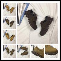 Wholesale Career Wear Tops - Retro solid dress shoes for men antiskid climbing shoe wear resistant popular colors Brown yellow khaki top quality y3factory EUR 38-44
